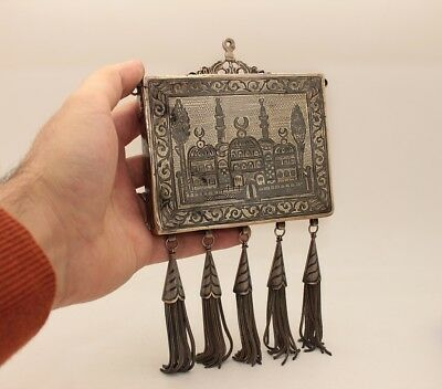 Antique Original Silver Niello Amazing Ottoman Van Armenian Made Quran Box