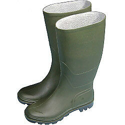 Town & Country Full Length Wellington Boots Green Uk Size 4 100% Waterproof