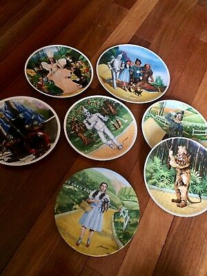 """Wizard Of Oz Knowles Collectors Plates 8"""" & 10"""" LOT OF 7 1977 78 79"""