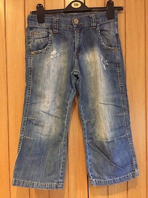 Zara Boys Jeans Light Blue Distressed Denim Size 11/12 years 152cm