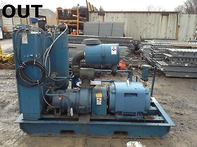 Quincy 235 60HP Rotary Screw Air Compressor 32016 Hours 3PH