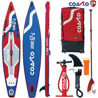 COASTO TURBO 12.6 SUP Board Stand Up Paddle Surf-Board Race Touring ISUP SUP