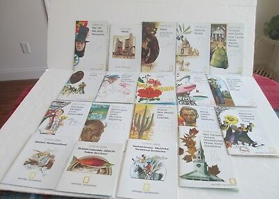 National Geographic Close Up USA and Close Up Canada Maps Lot of 18