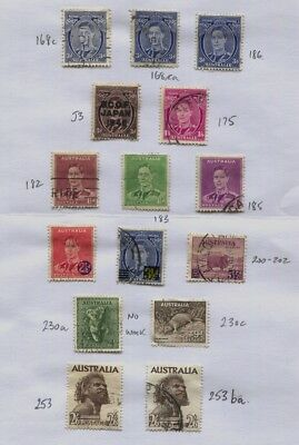 Australia Page of Mostly GVI used 1937 - 1949 CV £72.50