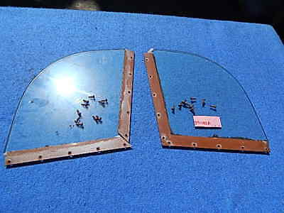 Seeburg M100A Cabinet Side Glass Retaining Strips with Side Glass and fasteners