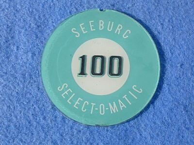 """Seeburg L100 side cover insert - """"Seeburg 100 Selectomatic"""" - one pair"""