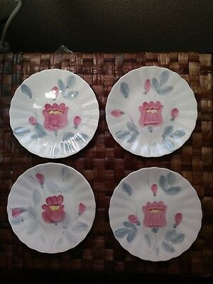 4 BLUE RIDGE CORDELE set 4 BREAD Dessert PLATE SOUTHERN POTTERIES hand painted