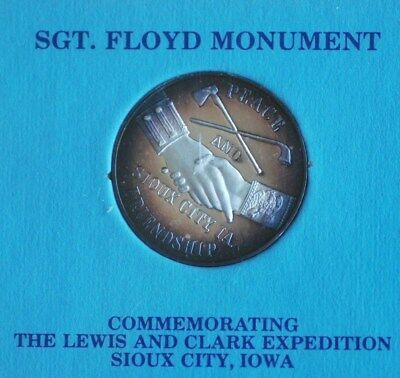 Commemorative Silver Coin/Medal ~ Lewis and Clark Expedition Sioux City, IA