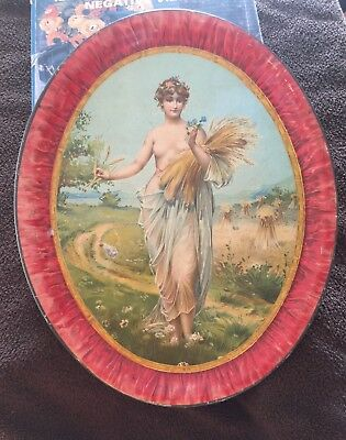 Circa 1900 Serving Tray with Partial Nudity !!
