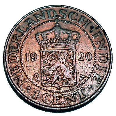 Netherlands East Indies 1 Cent 1920 E11.2