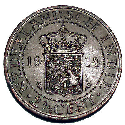 Netherlands East Indies 2-1/2 Cents 1914 F54
