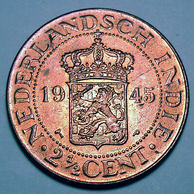 Netherlands East Indies 2-1/2 Cents 1945 P F54