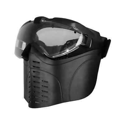 Adjustable Tactical TPU Face Mask and UV Protection Goggles for Hunting, CS