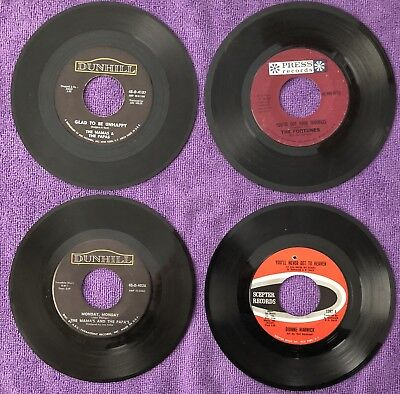 LOT OF 50's 60's VINYL 45s - PICK ANY 5 RECORDS - SOUL, ROCK, POP, BLUES