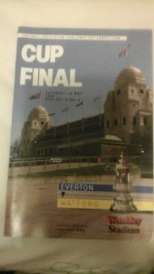 Everton  v  Watford   FA Cup Final  1984