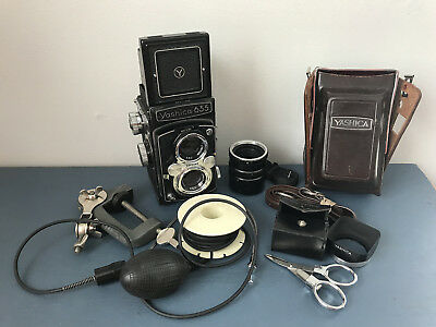 Vintage YASHICA 635 TLR Yashikor 80mm Accessories *Parts or Repair* 120 or 35mm