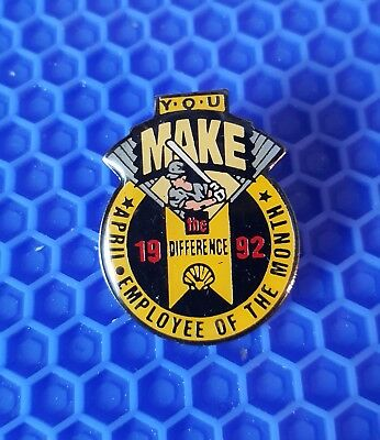 Shell Oil & Gas Co Employee Of The Month Pin
