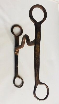 Antique Iron Work Horse Bit Hand Forged 1800s Muel or Horse Bit
