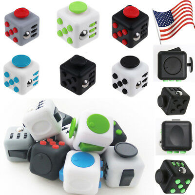 Dice Magic FIDGET CUBE Desk Toy Stress Anxiety Relief Adult Kid Attention Focus