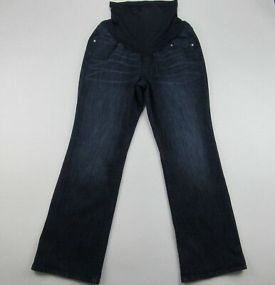 Oh Baby by Motherhood Maternity Jeans Boot Cut Blue Stretch Over The Belly Sz 1X