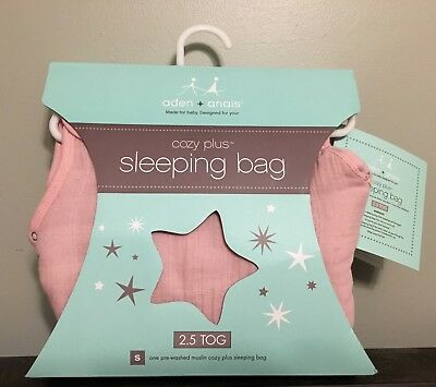 Aden and Anais cozy plus sleeping bag in rose size small