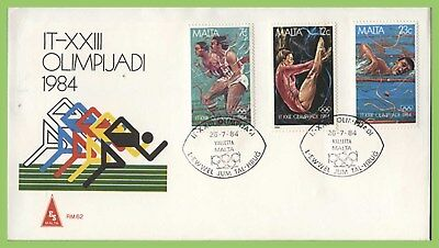 Malta 1984 Olympics set on 'ES' First Day Cover