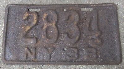 Vintage 1938 New York NY Motorcycle License Plate