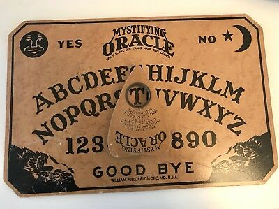 Rare Vintage Antique Early 1930's Wood OUIJA Spirit Board William Fuld Oracle