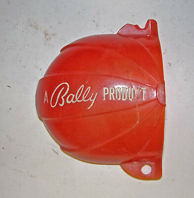 Bally Woodrail Pinball Machine -- Red Marbleized Kickout Cover - hard to find!