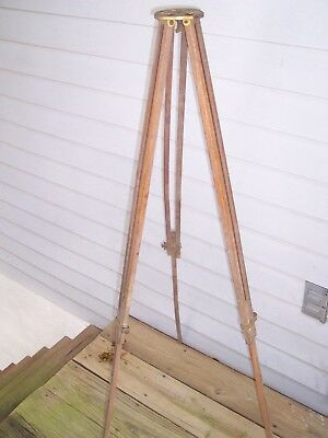 Vtg Old Antique Chicago Ferrotype Co Oak Wood Brass Camera Tripod Tintype Photo