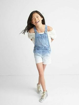 NWT Gap Kids girls ombre denim shorts overalls size small 6 7 or medium 8 NEW