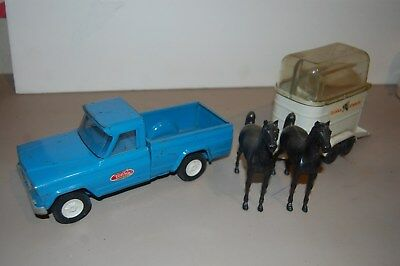 Tonka Jeep Gladiator Pickup Truck with  Trailer and Horses