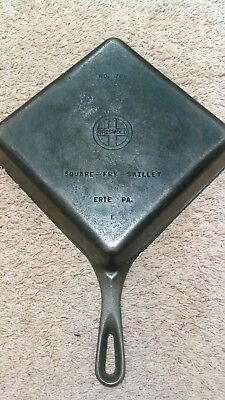 Griswold Cast Iron Square Fry Skillet No. 768 Small Logo
