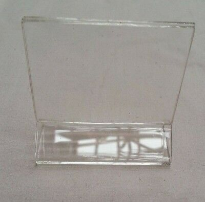 """sign holder stand, tag/picture holder, 2.25""""x 2.25"""", clear, acrylic, 5001938"""