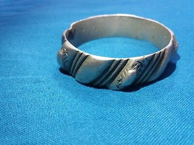 Old Moroccan berber Bracelet style antique rare Metal vintage charm jewelry