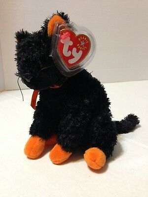 FRAIDY the Halloween Cat 2001 TY Beanie Baby Plush Stuffed Animal Toy New
