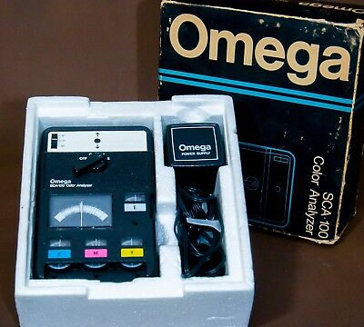 Omega (SCA-100) Color Analyzer With Power Supply Bundle (414-100)