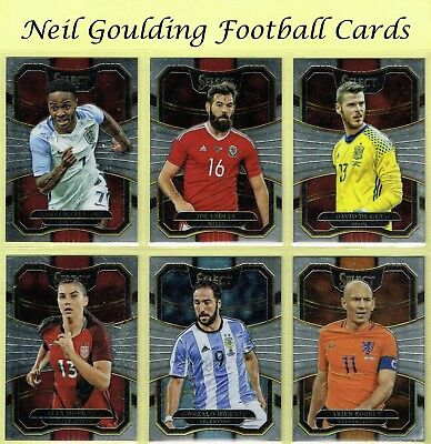 Panini SELECT SOCCER 2017-18 'Terrace' Base 2018 Football Cards #1 to #100
