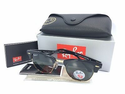 Ray-Ban Clubmaster Polarized Green Lenses RB3016 901/58 49mm