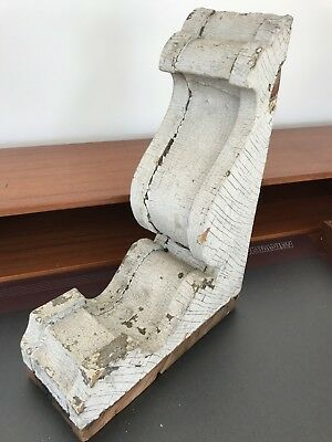 "Chippy WHITE 14.5"" Antique Wood Corbel Architectural Salvage Farmhouse Decor"