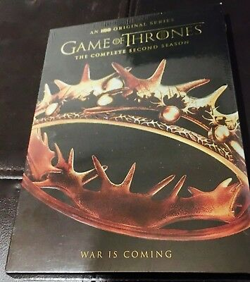 Game of Thrones: The Complete Second Season (DVD, 2013, 5-Disc Set) Brand New