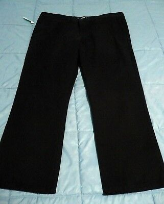 Mens OLD NAVY 38 x 30 Ultimate SLIM Black Flat Front Chino Pants New NWT
