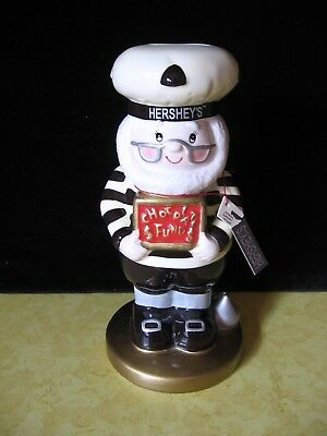 2003 Hershey Kiss Collectibles Elf Ceramic Bank Figurine w/ tag (A8)