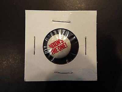 """Nixon's the One!"" Nixon Presidential Campaign Button 1968"