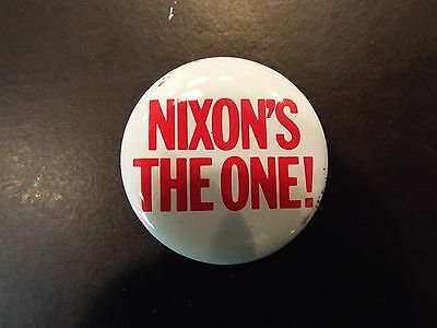 """Nixon's the One"" Richard Nixon Presidential Campaign Button 1968"