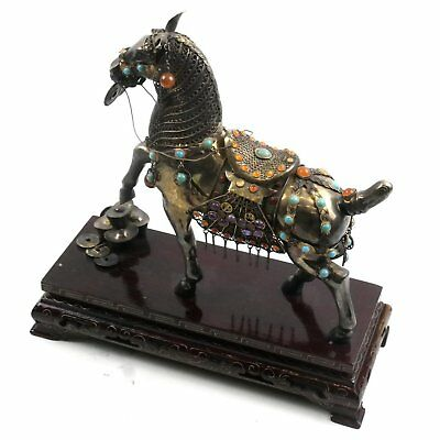 Antique Chinese Silver Decorated Horse