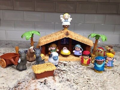 Fisher Price Little People Complete Christmas Nativity Set, light and sounds!