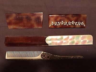 Vintage Victorian Folding Combs (3)