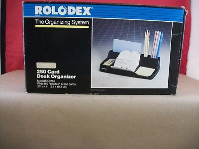 Vintage NOS Rolodex Desk Organizer Card File Model No. DO-250 - Made in USA