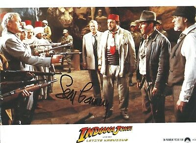 Sean Connery signed Indiana Jones Lobby Card. James Bond 007 - Harrison Ford